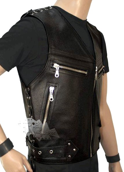 Кожаный жилет мужской классический кожаные жилетки